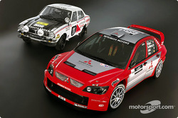 Studio shoot of the new Mitsubishi Lancer WRC04
