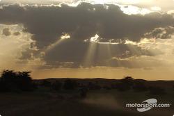 Riding towards the sunset