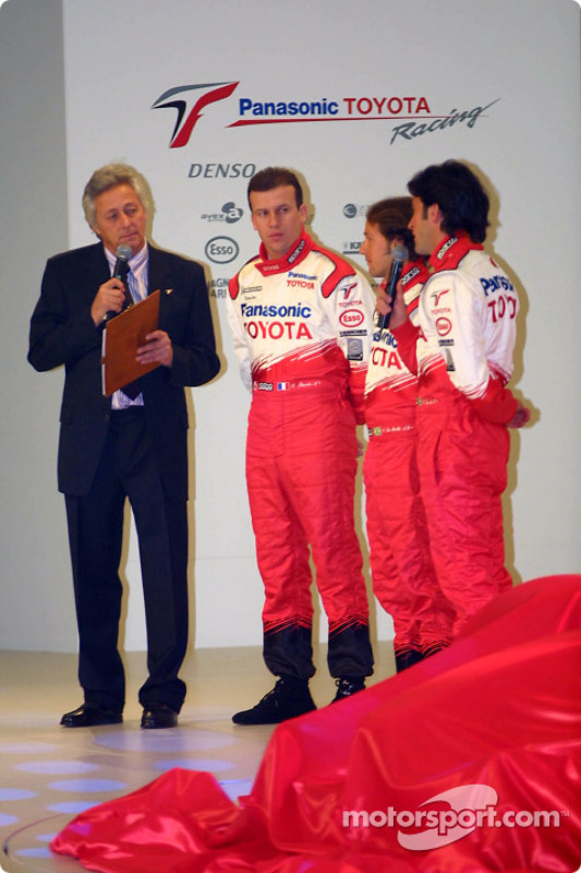 Olivier Panis, Cristiano da Matta et Ricardo Zonta sur scène