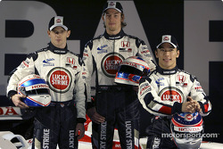 Anthony Davidson, Jenson Button and Takuma Sato