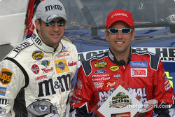 Front row for the 2004 Daytona 500: pole award winner Greg Biffle and Elliott Sadler