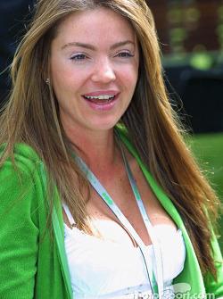 David Coulthard's girlfriend Simone