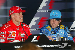 Winners press conference: Rubens Barrichello and Fernando Alonso