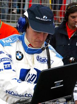 Williams-BMW team member on starting grid