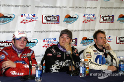 Bobby East (3rd),  J.J. Yeley (Winner) and Dave Steele (2nd)