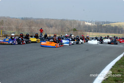 The Baker brothers Wayne and Robert lead the start of Briggs Lite