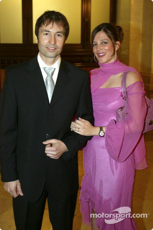 Heinz-Harald Frentzen mit seiner Frau Tanja
