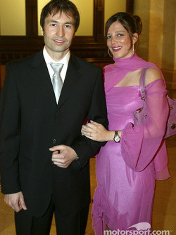 Heinz-Harald Frentzen with wife Tanja
