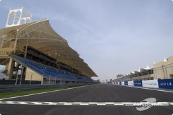 Start/finish line at Bahrain International Circuit