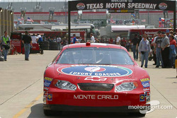 Jimmy Spencer in the garage area