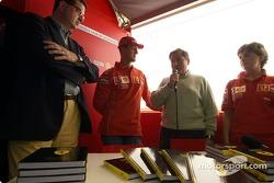 Launch of Ferrari official book 'Formula Ferrari': Michael Schumacher and Jean Todt