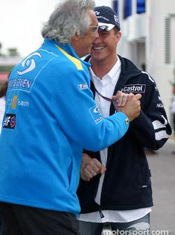 Flavio Briatore and Ralf Schumacher
