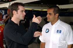 NASCAR superstar Jeff Gordon visits Juan Pablo Montoya