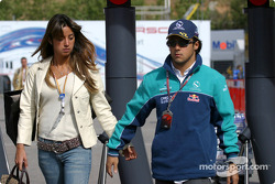 Felipe Massa with his girlfriend