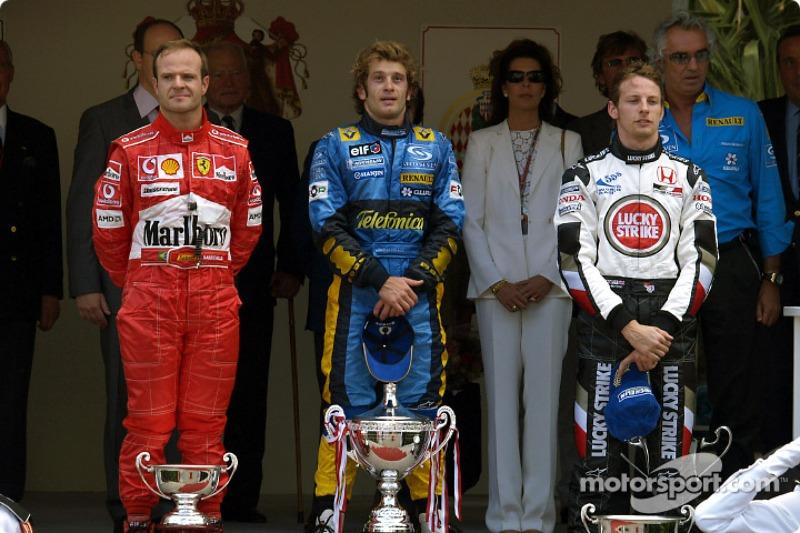 2004: 1. Jarno Trulli, 2. Jenson Button, 3. Rubens Barrichello