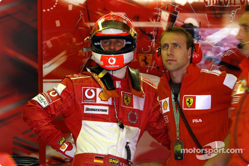 Michael Schumacher ve Luca Badoer