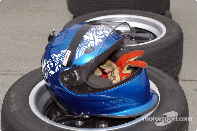 EFR helmet my be tired but not him