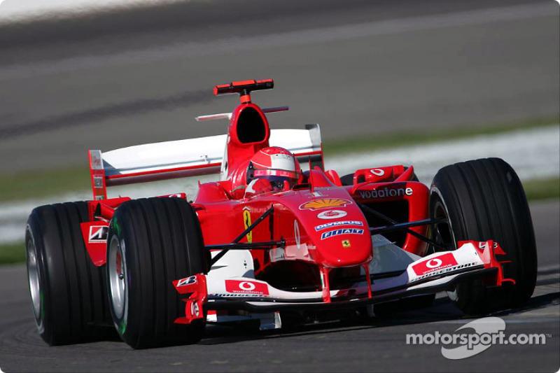 2004 (Indianapolis): Michael Schumacher (Ferrari F2004)