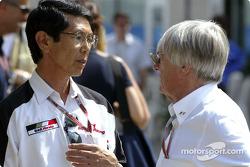 Shoichi Tanaka and Bernie Ecclestone