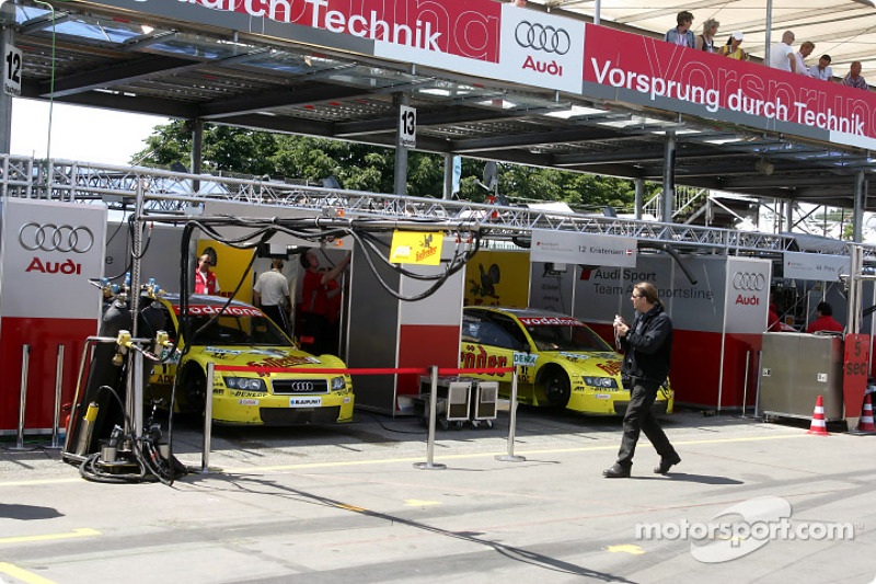 Audi Sport Team Abt pit area