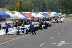 ALMS cars on newly-expanded Lime Rock pit road