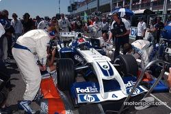 Marc Gene on the starting grid