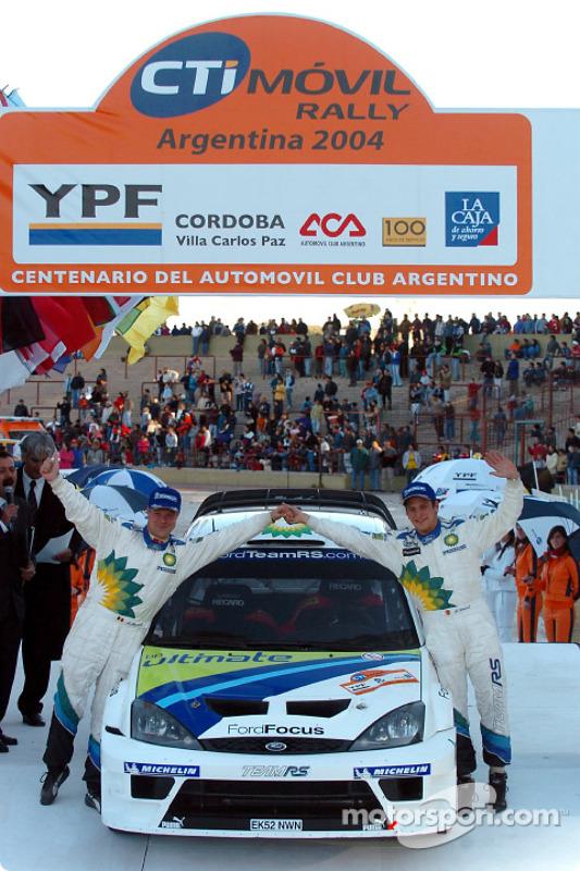 Podium : troisième place pour François Duval et Stéphane Prévot