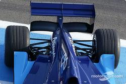 Vue en détail de la nouvelle Dallara-Renault de GP2 Series