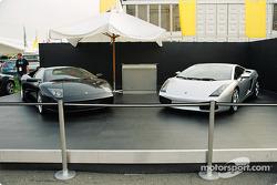 Lamborghinis on display