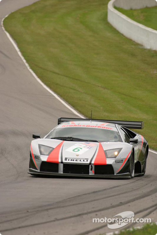 La Lamborghini Murcielago R-GT n°6 du Krohn-Barbour Racing (Tracy Krohn, Scott Maxwell)