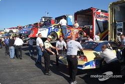 It's 9am and the cars come off the haulers