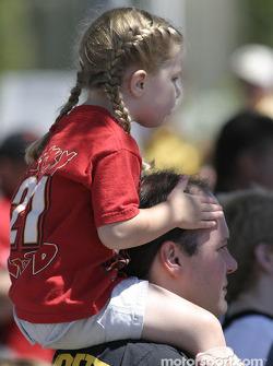 A young Ricky Rudd fan