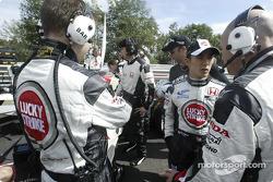 Takuma Sato on the starting grid