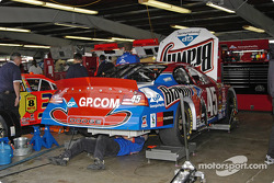 Kyle Petty's car in garage