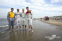 Jeroen Bleekemolen, Christijan Albers, Charles Zwolsman (F3 Euroserie) and Martin Tomczyk