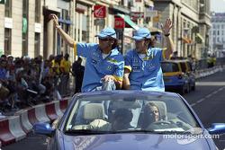 Franck Montagny and Fernando Alonso