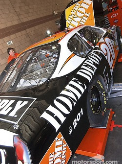 Getting the #20 Home Depot Chevy ready for the race