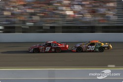 Kasey Kahne and Elliott Sadler fight for the lead