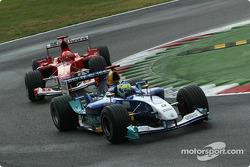 Giancarlo Fisichella y Michael Schumacher