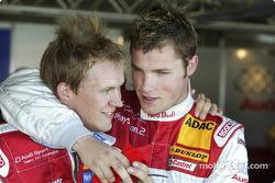 Mattias Ekström fête sa pole position avec Martin Tomczyk
