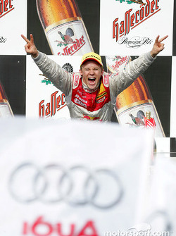 Podium: race winner and DTM 2004 champion Mattias Ekström
