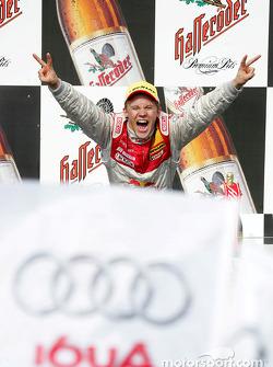 Podium: race winner and DTM 2004 champion Mattias Ekström