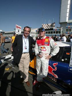Martin Tomczyk with Audi AG board member Ralph Weyler