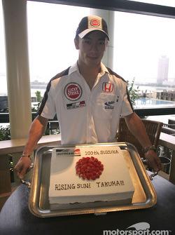 A cake for Takuma Sato