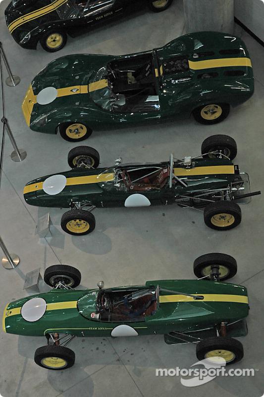 Une partie de la collection Lotus
