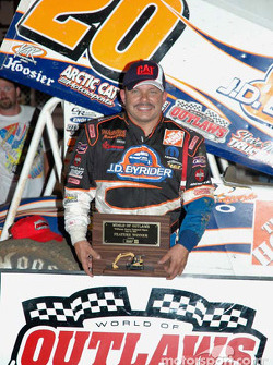 A-main race winner Danny Lasoski