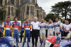 #6 AIM Team Oreca Matmut Oreca AIM: Soheil Ayari, Didier Andre, Andy Meyrick, #4 Team Oreca Matmut Peugeot 908: Olivier Panis, Nicolas Lapierre, Loic Duval