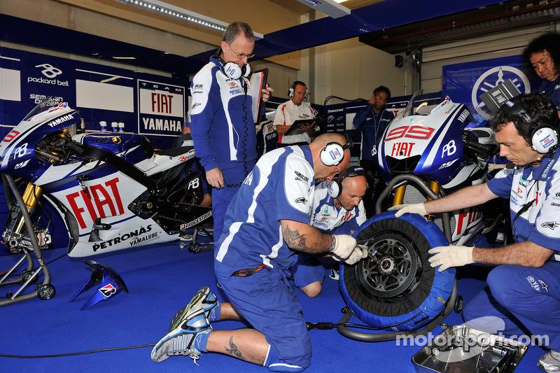 L'équipe Yamaha au travail