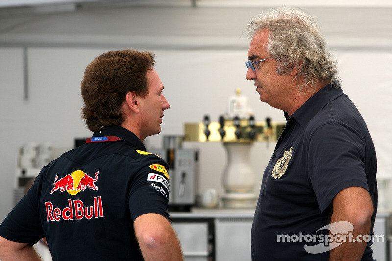 Christian Horner, Red Bull Racing, Sporting Director, Flavio Briatore