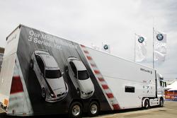 The trucks for BMW Team RBM
